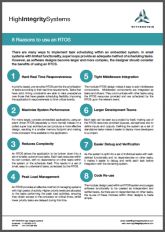 8 Reasons to Use an RTOS