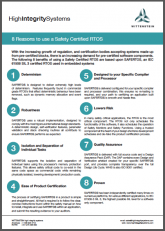 8 Reasons to Use a Pre-Certified Safety RTOS