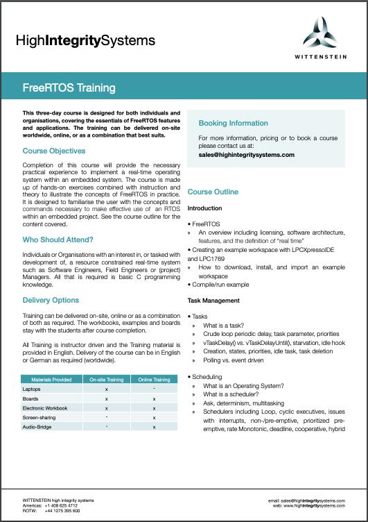 Training Datasheet
