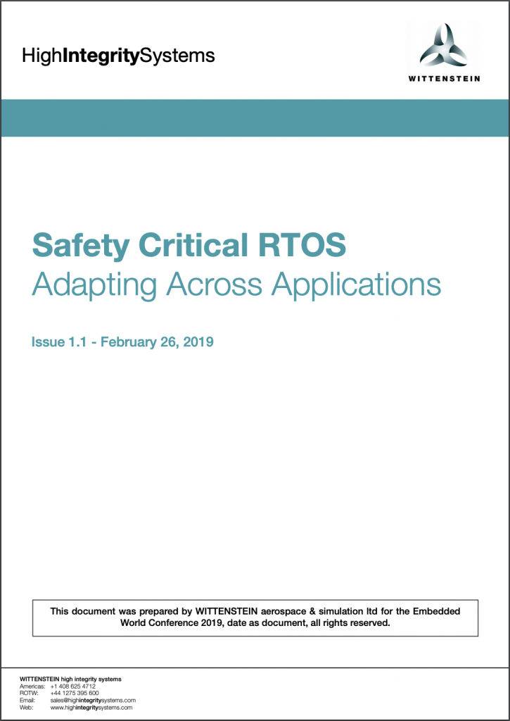 Safety Critical RTOS White Paper